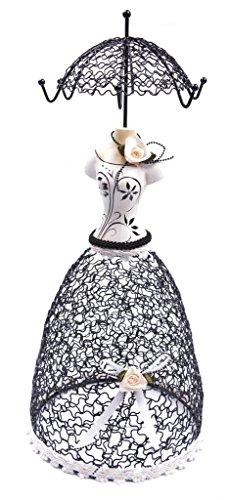 アクセサリスタンド ジュエリー 3071905 ChezMax Antique Lady Stand Jewelry Display Necklace Earring Bracelet Holder Organizer Rack Princess Blackアクセサリスタンド ジュエリー 3071905