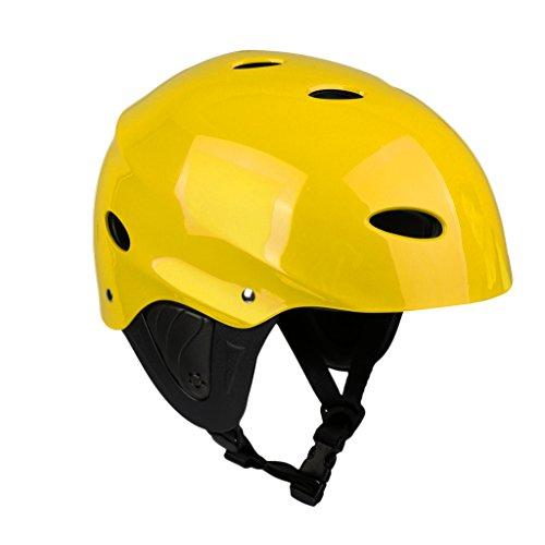 ウォーターヘルメット 安全 マリンスポーツ サーフィン ウェイクボード MagiDeal Lightweight Vented Water Sports Safety Helmet Kayak Canoe Boat Surf Hard Cap with Ear Protective Pads - CE ウォーターヘルメット 安全 マリンスポーツ サーフィン ウェイクボード