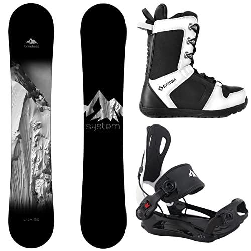 スノーボード ウィンタースポーツ システム 2017年モデル2018年モデル多数 【送料無料】System Package Timeless Snowboard 158 cm Wide MTN Binding Large APX Snowboard Boots-10 2019スノーボード ウィンタースポーツ システム 2017年モデル2018年モデル多数