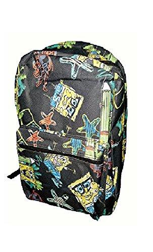 スポンジボブ バッグ バックパック リュックサック カートゥーンネットワーク 【送料無料】Nickelodeon SpongeBob SquarePants Assorted Backpack (Black)スポンジボブ バッグ バックパック リュックサック カートゥーンネットワーク