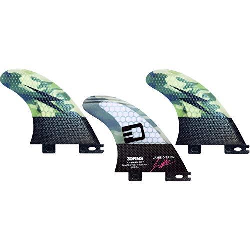 サーフィン フィン マリンスポーツ 【送料無料】3D Fins Jamie O'Brien Channel Tip Tech Camo Thruster 3DF2 Base - Set of 3 Finsサーフィン フィン マリンスポーツ