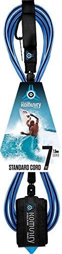 サーフィン リーシュコード マリンスポーツ Komunity Project 7' Standard Surfboard Leash 7mm Blueサーフィン リーシュコード マリンスポーツ
