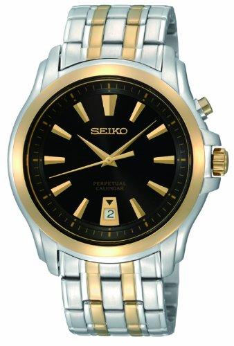 セイコー 腕時計 メンズ SNQ120 【送料無料】Seiko Men's SNQ120 Silver And Gold Analog with Black Dial Watchセイコー 腕時計 メンズ SNQ120