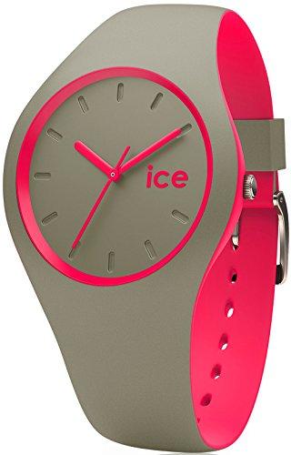 アイスウォッチ 腕時計 レディース かわいい Ice Duo Khaki Pink Womens Analog Japanese Quartz Watch with Silicone Bracelet Duo.KPK.S.S.16アイスウォッチ 腕時計 レディース かわいい