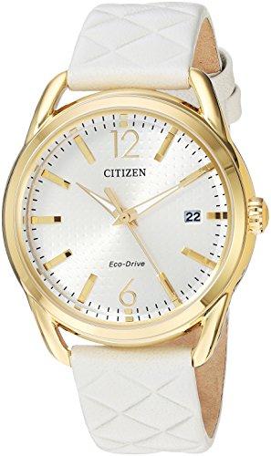 シチズン 逆輸入 海外モデル 海外限定 アメリカ直輸入 FE6082-08P Citizen Women's 'Drive' Quartz Stainless Steel and Leather Casual Watch, Color:White (Model: FE6082-08P)シチズン 逆輸入 海外モデル 海外限定 アメリカ直輸入 FE6082-08P