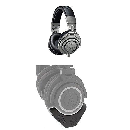 DJヘッドホン ヘッドフォン 海外 輸入 【送料無料】Audio-Technica ATH-M50x Professional Monitor Headphones, Gun Metal with Bluetooth Adapter and AmplifierDJヘッドホン ヘッドフォン 海外 輸入