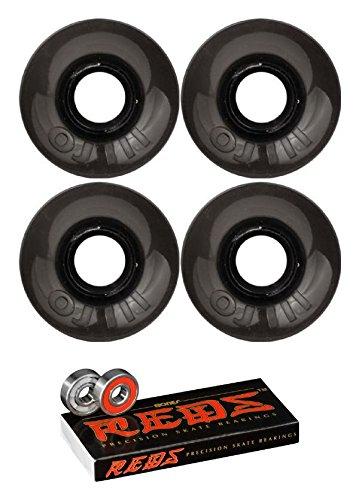 ウィール タイヤ スケボー スケートボード 海外モデル OJ Wheels 55mm Mini Hot Juice Trans Black Skateboard Wheels - 78a with Bones Bearings - 8mm Bones Reds Precision Skate Rated Skateboard Bearings - Bウィール タイヤ スケボー スケートボード 海外モデル