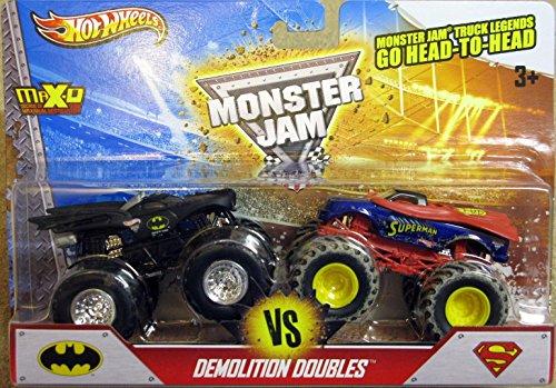 ホットウィール マテル ミニカー ホットウイール Hot Wheels Monster Jam Demolition Doubles - Batman VS Superman - 1:64 Scaleホットウィール マテル ミニカー ホットウイール