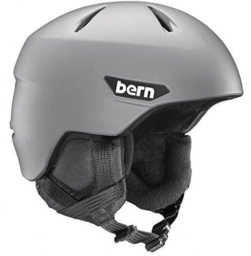 スノーボード ウィンタースポーツ 海外モデル ヨーロッパモデル アメリカモデル Bern BERN Weston Snow Helmet w/Crank Fit-MatteGrey-Lスノーボード ウィンタースポーツ 海外モデル ヨーロッパモデル アメリカモデル Bern
