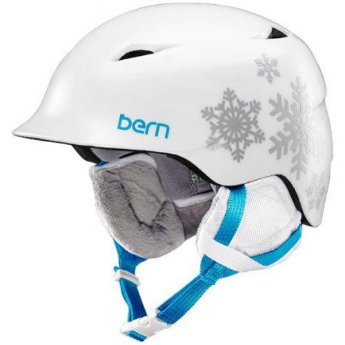 スノーボード ウィンタースポーツ 海外モデル ヨーロッパモデル アメリカモデル SG02ZSWSF21 Bern Camina Youth Snow Helmet Satin White Snowflake XS/Sスノーボード ウィンタースポーツ 海外モデル ヨーロッパモデル アメリカモデル SG02ZSWSF21