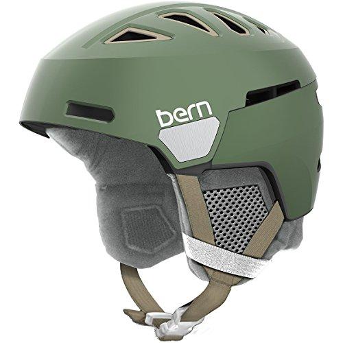 スノーボード ウィンタースポーツ 海外モデル ヨーロッパモデル アメリカモデル Bern Bern 2017/18 Women's Heist Winter Snow Helmet - w/Adjustable Liner (Satin Metallic Sage Grスノーボード ウィンタースポーツ 海外モデル ヨーロッパモデル アメリカモデル Bern