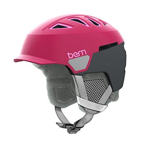 スノーボード ウィンタースポーツ 海外モデル ヨーロッパモデル アメリカモデル SW00D17SRA2 Bern Women's Heist Brim Helmet (Satin Raspberry with Grey Liner, Medium)スノーボード ウィンタースポーツ 海外モデル ヨーロッパモデル アメリカモデル SW00D17SRA2