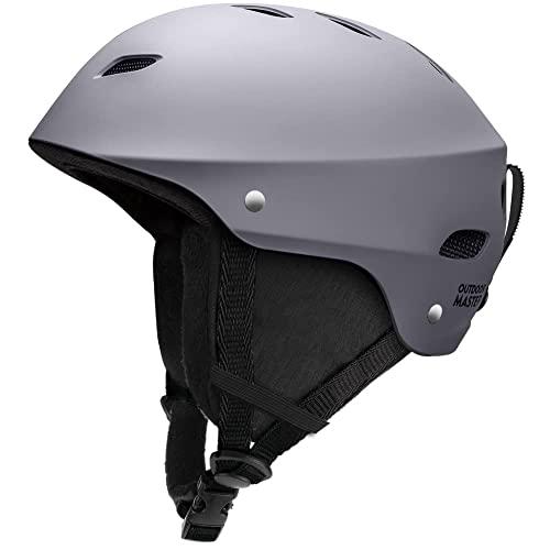 スノーボード ウィンタースポーツ 海外モデル ヨーロッパモデル アメリカモデル OutdoorMaster Ski Helmet - with ASTM Certified Safety, 9 Options - for Men, Women & Youth (Gray,M)スノーボード ウィンタースポーツ 海外モデル ヨーロッパモデル アメリカモデル