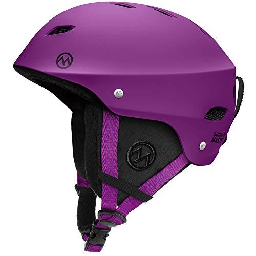 スノーボード ウィンタースポーツ 海外モデル ヨーロッパモデル アメリカモデル OutdoorMaster Ski Helmet - with ASTM Certified Safety, 9 Options - for Men, Women & Youth (Purple,S)スノーボード ウィンタースポーツ 海外モデル ヨーロッパモデル アメリカモデル