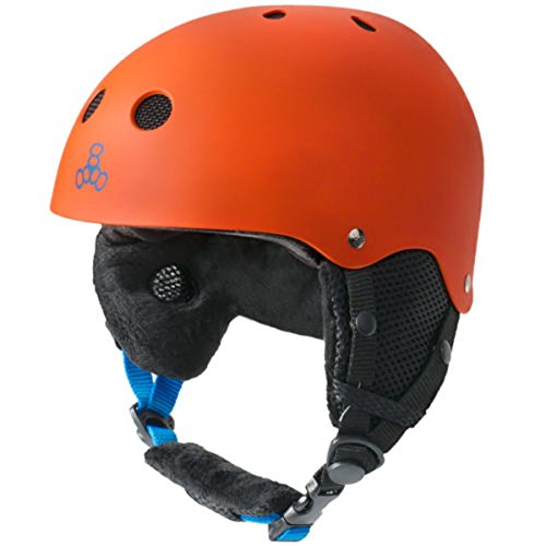 スノーボード ウィンタースポーツ 海外モデル ヨーロッパモデル アメリカモデル 888-04 Triple Eight Standard Snow Version 2 Helmet, Orange Rubber, X-Small/Smallスノーボード ウィンタースポーツ 海外モデル ヨーロッパモデル アメリカモデル 888-04