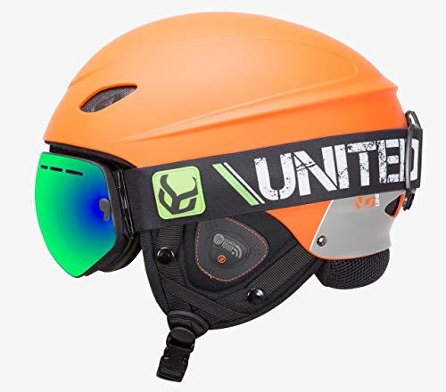 スノーボード ウィンタースポーツ 海外モデル ヨーロッパモデル アメリカモデル phantomorangesmallsu Phantom Helmet with Audio and Snow Supra Goggle (Orange, Sスノーボード ウィンタースポーツ 海外モデル ヨーロッパモデル アメリカモデル phantomorangesmallsu