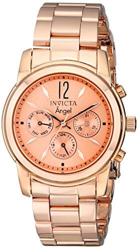 インヴィクタ インビクタ エンジェル 腕時計 レディース 12509 【送料無料】Invicta Women's 12509 Angel Rose Dial 18k Rose Gold Ion-Plated Watchインヴィクタ インビクタ エンジェル 腕時計 レディース 12509