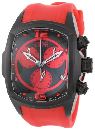 インヴィクタ インビクタ 腕時計 メンズ 6728 Invicta Men's 6728 Lupah Collection Chronograph Black Ion-Plated Red Rubber Watchインヴィクタ インビクタ 腕時計 メンズ 6728