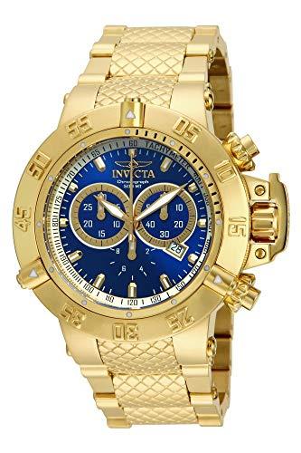 インヴィクタ インビクタ サブアクア 腕時計 メンズ 14501 Invicta Men's 14501 Subaqua Noma III Chronograph Blue Dial 18k Gold Ion-Plated Stainless Steel Watchインヴィクタ インビクタ サブアクア 腕時計 メンズ 14501