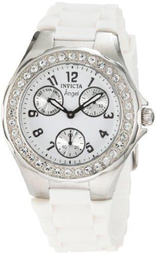 インヴィクタ インビクタ エンジェル 腕時計 レディース 1648 Invicta Women's 1648 Angel Crystal Accented White Dial White Silicone Watchインヴィクタ インビクタ エンジェル 腕時計 レディース 1648
