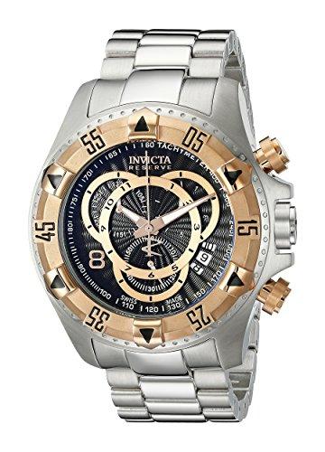 インヴィクタ インビクタ リザーブ 腕時計 メンズ 10998 【送料無料】Invicta Men's 10998 Excursion Reserve Chronograph Black Textured Dial Stainless Steel Watchインヴィクタ インビクタ リザーブ 腕時計 メンズ 10998