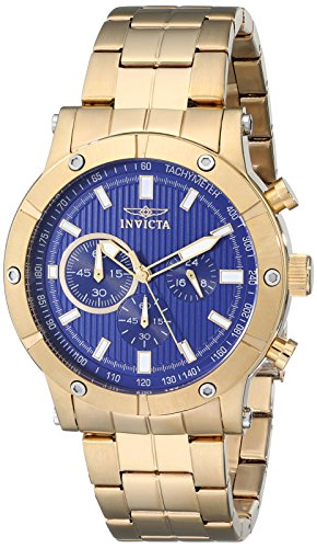 腕時計 インヴィクタ インビクタ メンズ 18162 【送料無料】Invicta Men's 18162 Specialty Analog Display Japanese Quartz Gold Watch腕時計 インヴィクタ インビクタ メンズ 18162