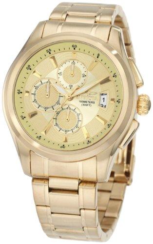 腕時計 インヴィクタ インビクタ メンズ 1484 【送料無料】Invicta Men's 1484 Specialty Collection Chronograph Gold Dial 18k Gold Ion-Plated Stainless Steel Watch腕時計 インヴィクタ インビクタ メンズ 1484