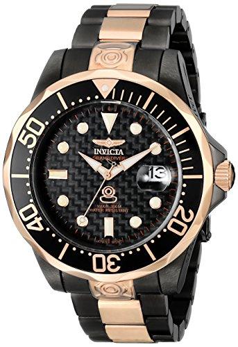 インヴィクタ インビクタ プロダイバー 腕時計 メンズ 10643 Invicta Men's 10643 Pro Diver Automatic Black Carbon Fiber Dial Two Tone Stainless Steel Watchインヴィクタ インビクタ プロダイバー 腕時計 メンズ 10643