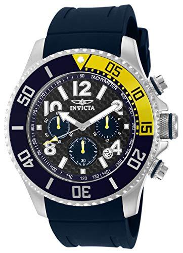 インヴィクタ インビクタ プロダイバー 腕時計 メンズ 13728 【送料無料】Invicta Men's 13728 Pro Diver Chronograph Carbon Fiber Dial Dark Blue Polyurethane Watchインヴィクタ インビクタ プロダイバー 腕時計 メンズ 13728
