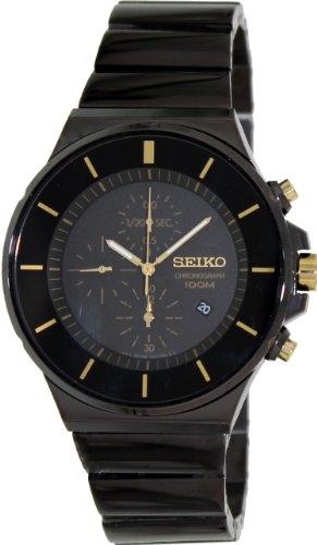 """セイコー 腕時計 メンズ 【送料無料】Seiko Men""""s SNDD57 Black Stainless-Steel Quartz Watch with Black Dialセイコー 腕時計 メンズ"""