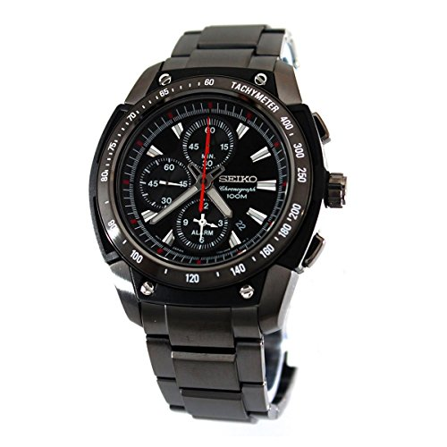 セイコー 腕時計 メンズ SE-SNAD49P1 Seiko Men's SE-SNAD49P1 Motor Sports Black Dial Watchセイコー 腕時計 メンズ SE-SNAD49P1