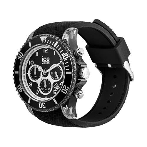アイスウォッチ 腕時計 メンズ かわいい 014216 【送料無料】Ice-Watch - ICE Dune Black - Men's Wristwatch with Silicon Strap - Chrono - 014216 (Large)アイスウォッチ 腕時計 メンズ かわいい 014216