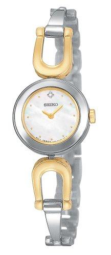 セイコー 腕時計 レディース SUJE69 Seiko Women's SUJE69 Diamond Twp Tone Bangle Watchセイコー 腕時計 レディース SUJE69