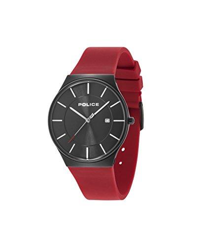 ポリス 腕時計 メンズ 15045JBCB/02PB Police Men's Quartz Watch Black Stainless Steel Case with Red Rubber Strap 15045JBCB/02PBポリス 腕時計 メンズ 15045JBCB/02PB