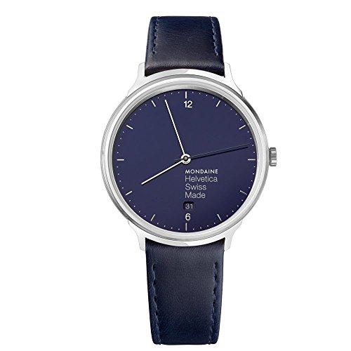 モンディーン 北欧 スイス 腕時計 レディース MH1.L2240.LD 【送料無料】Mondaine Helvetica Stainless Steel Quartz Watch with Leather Strap, Blue, 18 (Model: MH1.L2240.LD)モンディーン 北欧 スイス 腕時計 レディース MH1.L2240.LD