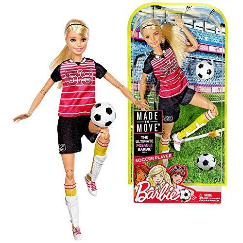 バービー バービー人形 メイドトゥームーブ 関節 動く Barbie Mattel Year 2016 Made to Move Series 12 Inch Doll - Soccer Player (DVF69) with Shin Pads and Soccer Ballバービー バービー人形 メイドトゥームーブ 関節 動く