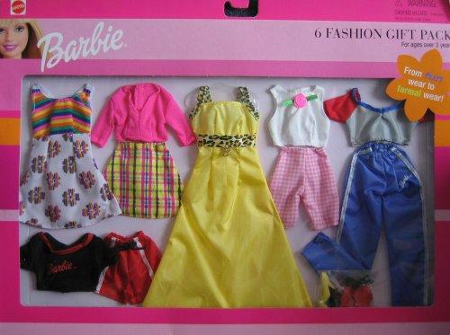 バービー バービー人形 着せ替え 衣装 ドレス 62809-84 Barbie 6 Fashion Gift Pack From Fun Wear To Formal Wear! (1999)バービー バービー人形 着せ替え 衣装 ドレス 62809-84