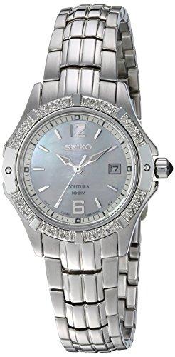 腕時計 セイコー レディース SXDE19 【送料無料】Seiko Women's SXDE19 Quartz Stainless Steel Mother-Of-Pearl Dial Watch腕時計 セイコー レディース SXDE19