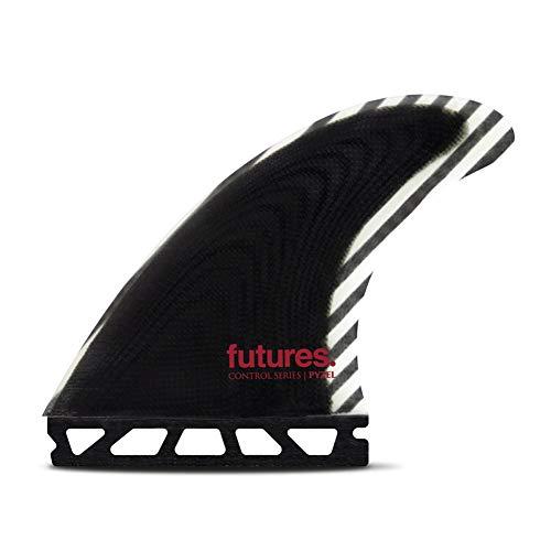 サーフィン フィン マリンスポーツ Futures Pyzel Control Series Thruster Fin Medium Black/whiteサーフィン フィン マリンスポーツ