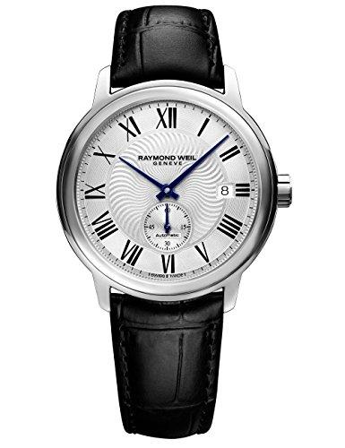 腕時計 レイモンドウィル メンズ スイスの高級腕時計 2238-STC-00659 【送料無料】Raymond Weil Men's Maestro Stainless Steel Swiss-Automatic Watch with Leather Calfskin Strap, Black, 2腕時計 レイモンドウィル メンズ スイスの高級腕時計 2238-STC-00659