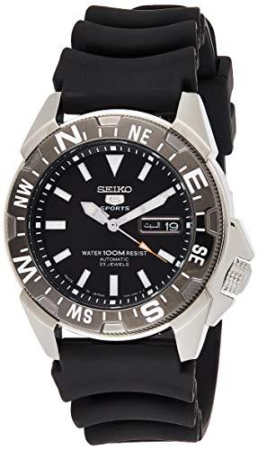 セイコー 腕時計 メンズ SNZE81K2 【送料無料】Seiko Men's 5 Automatic SNZE81K2 Black Rubber Quartz Watchセイコー 腕時計 メンズ SNZE81K2