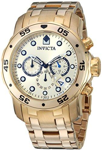 腕時計 インヴィクタ インビクタ プロダイバー メンズ 21924 【送料無料】Invicta Men's Pro Diver Quartz Watch with Stainless-Steel Strap, Gold, 26 (Model: 21924)腕時計 インヴィクタ インビクタ プロダイバー メンズ 21924