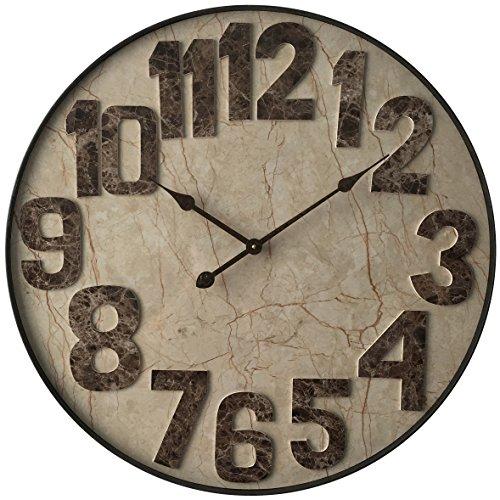 壁掛け時計 インテリア インテリア 海外モデル アメリカ 15251 【送料無料】27.5 inch Wall Clock, Marbled Mocha by Infinity Instruments壁掛け時計 インテリア インテリア 海外モデル アメリカ 15251