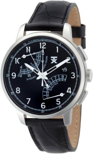タイメックス 腕時計 メンズ T3C198 【送料無料】TX Men's T3C198 Classic Fly-Back Chronograph Steel Black Leather Strap Watchタイメックス 腕時計 メンズ T3C198