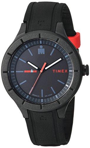 腕時計 タイメックス メンズ TW5M16800 【送料無料】Timex TW5M16800 Ironman Essential Urban Analog 42mm Black/Red Silicone Strap Watch腕時計 タイメックス メンズ TW5M16800