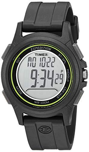 タイメックス 腕時計 メンズ TW4B12100 【送料無料】Timex Men's TW4B12100 Expedition Baseline Digital CAT Black/Green Resin Strap Watchタイメックス 腕時計 メンズ TW4B12100