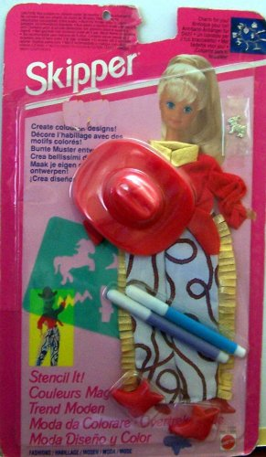 バービー バービー人形 チェルシー スキッパー ステイシー 11604, Asst. 11607 【送料無料】Barbie SKIPPER Stencil It Fashions Western Clothes (1993)バービー バービー人形 チェルシー スキッパー ステイシー 11604, Asst. 11607