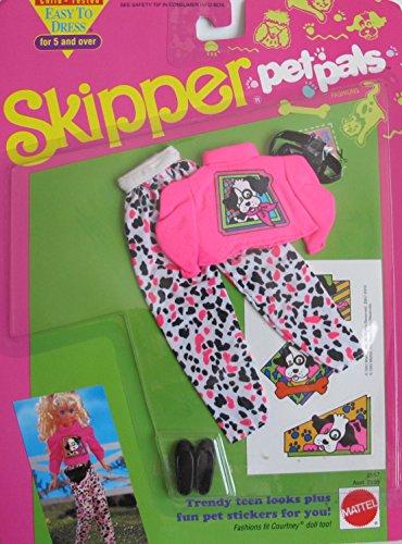 バービー バービー人形 チェルシー スキッパー ステイシー Barbie SKIPPER Pet Pals FASHIONS Easy To Dress TRENDY TEEN LOOKS Outfit & STICKERS (1991)バービー バービー人形 チェルシー スキッパー ステイシー