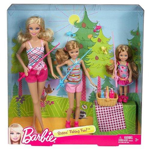 バービー バービー人形 チェルシー スキッパー ステイシー BCG06 Barbie Sisters' Fishing Fun! Set of 3 (Barbie, Stacie, Chelsea)バービー バービー人形 チェルシー スキッパー ステイシー BCG06