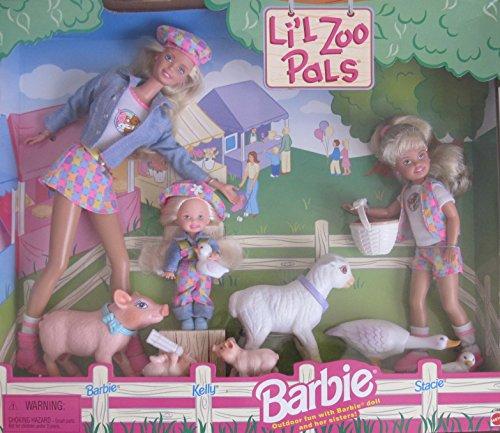 バービー バービー人形 チェルシー スキッパー ステイシー Barbie & Sisters LI'L Zoo PALS Gift Set w, Kelly & Stacie Dolls, Pigs, Sheep & More! (1998)バービー バービー人形 チェルシー スキッパー ステイシー